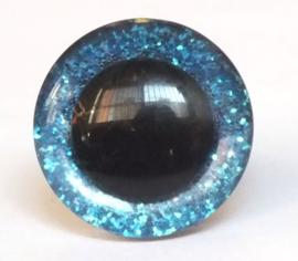 Glitterogen  16 mm blauw