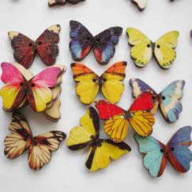 Vlinder knopen per 8 stuks ( tijdelijk uitverkocht komen rond 20 juni weer binnen )