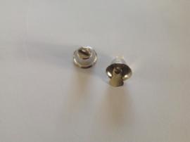 Klokjes zilverkleurig 14 mm per 5 stuks