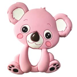 Koala Siliconen bijtring roze