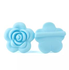 Siliconen roos blauw