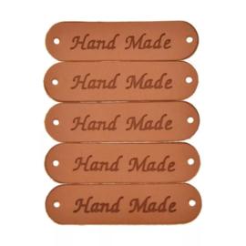 Handmade labels 4.5 cm per 4 stuks