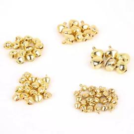 Belletjes goudkleurig 10 mm per 8 stuks