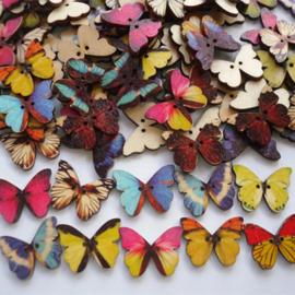Vlinder knopen per 8 stuks