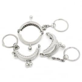 Portemonneebeugeltje zilver 3,5 a 4 cm