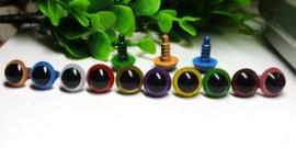 Veiligheidsoogjes  8 mm in 10  kleuren
