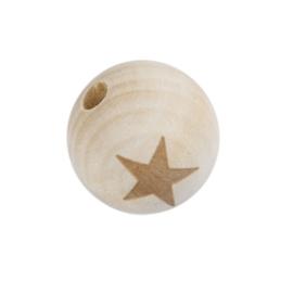 Houten kraal met sterretje