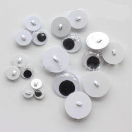 Wiebeloogjes om op te naaien 8 mm  per 5 paar