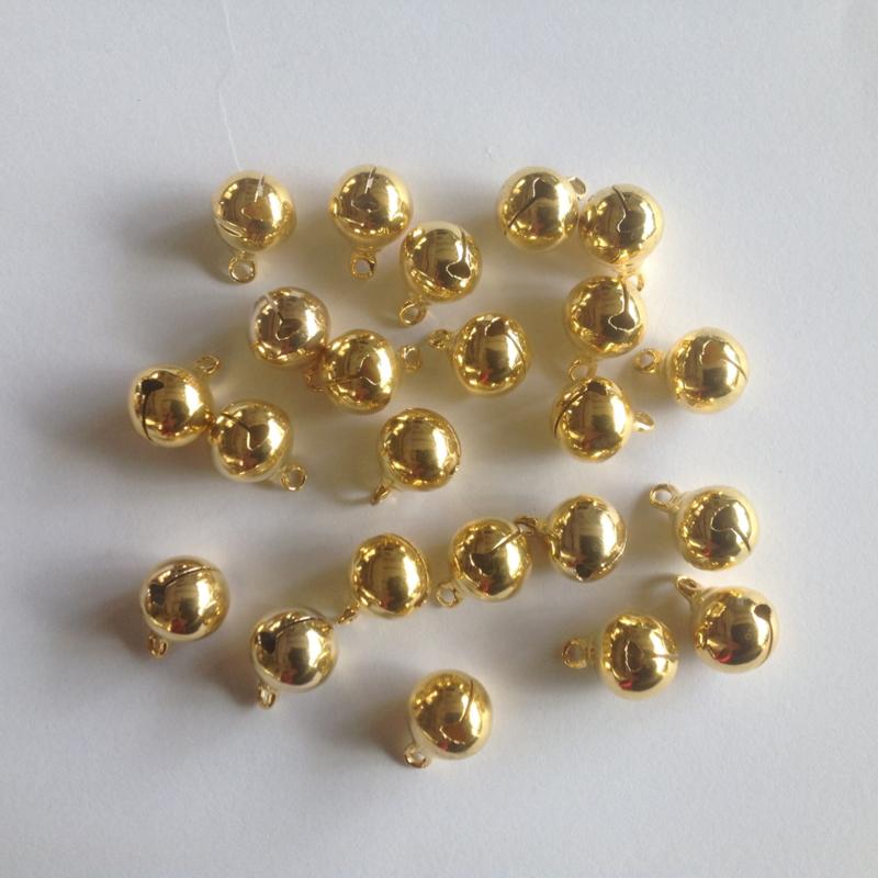 Belletjes goudkleurig 12 mm per 5 stuks