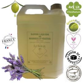 Natürliche Marseille Flüssigseife 4x5000ml parfümiert