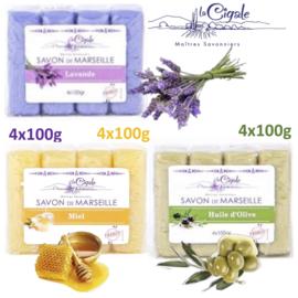 Glycerin assortment Marseille soap 12x100g