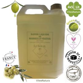 Natural Marseille liquid soap 4x5000ml non perfumed
