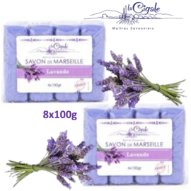 Glycerine and Lavender Marseille soap 8x100g