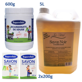 Superclair household cleaning products package