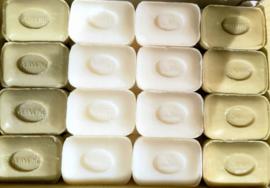 Marseille soaps white / green 4 x 12 100g