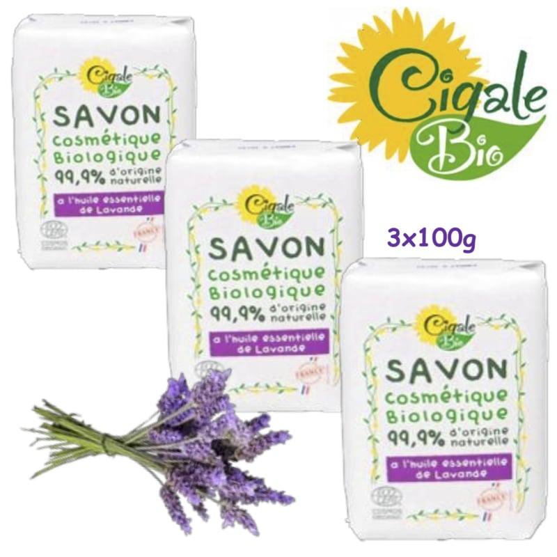 Organic lavender oil soap bars 3x100g