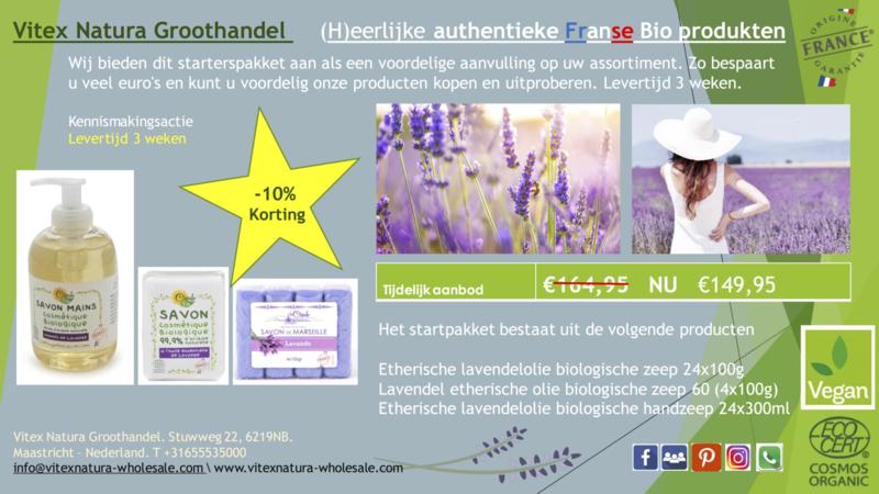 Essentiële lavendel olieproducten