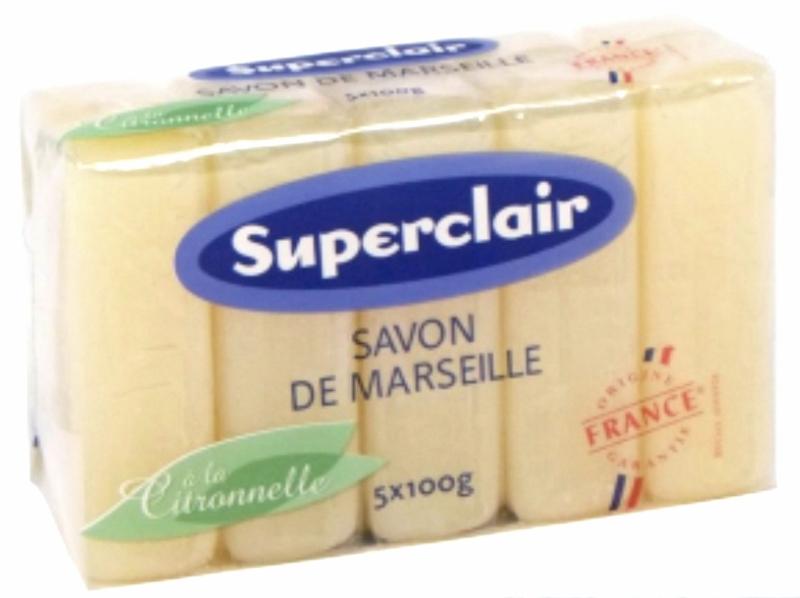 Marseille citronella glycerine zeepstukken 60x100g