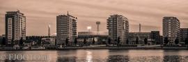 Feyenoord stadion 33 Sepia (Canvas 2cm frame)