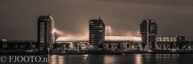 Feyenoord stadion 35 Sepia (Canvas 2cm frame)