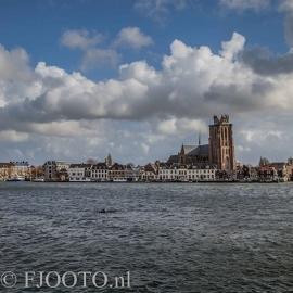 Dordrecht rivierzicht 2 (Canvas 4cm)