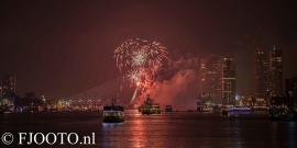 Rotterdam erasmusbrug  vuurwerk 3 (Dibond)