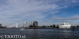 Rotterdam skyline panorama 3 (Canvas 4cm)