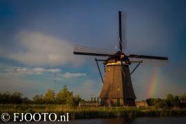 Kinderdijk molen regenboog (Souvenir)