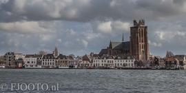 Dordrecht rivierzicht 1 (Canvas 4cm)