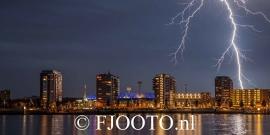 Feyenoord onweer 1 (Canvas 2cm frame)