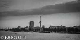 Rotterdam skyline panorama 1 (Dibond)