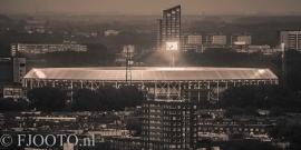 Feyenoord stadion 32 Sepia (Canvas 2cm frame)