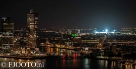 Rotterdam skyline panorama 5 (Canvas 4cm)