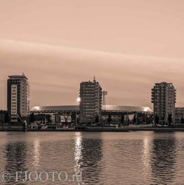 Feyenoord stadion 34 Sepia (Canvas 2cm frame)