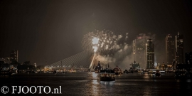 Rotterdam erasmusbrug  vuurwerk 2 ( Dibond)