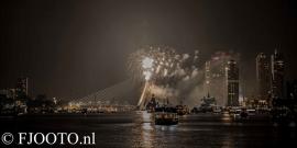 Rotterdam erasmusbrug  vuurwerk 2 ( Poster)