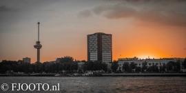 Rotterdam skyline panorama 2 (Dibond)