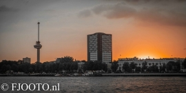 Rotterdam skyline panorama 2 (Canvas 4cm)