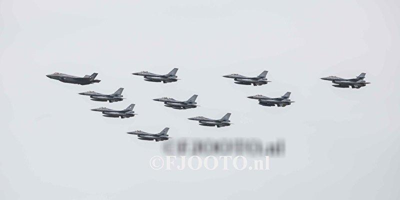 JSF en F-16 (Canvas 2cm)