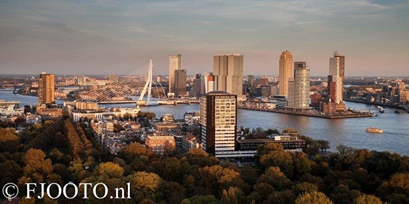 Rotterdam erasmusbrug panorama 7 (Poster)