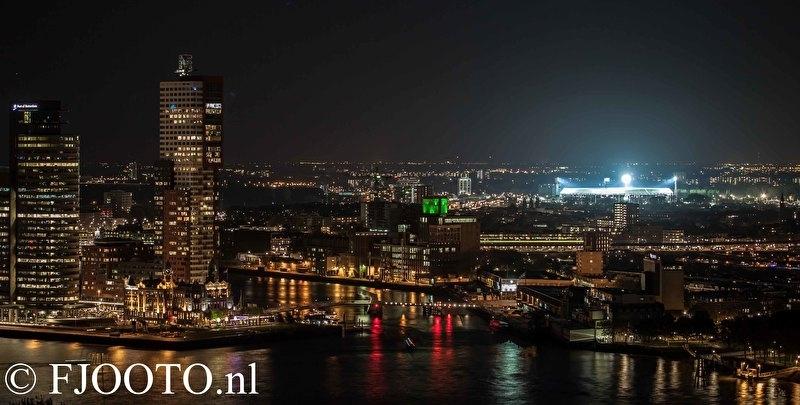 Rotterdam skyline panorama 5 (Canvas 2cm frame)