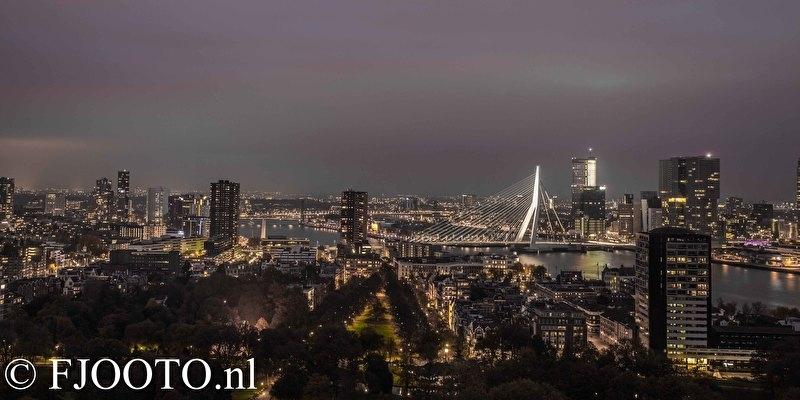 Rotterdam erasmusbrug panorama 4 (Poster)