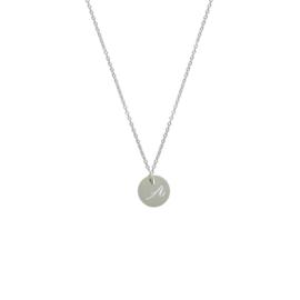 Ketting - met initiaal sierlijk | 925 sterling zilver