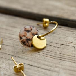 Oorbellen hangers | ROND - goud