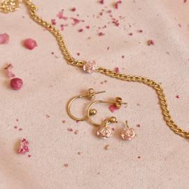 SET armband + oorbellen vintage ROOS
