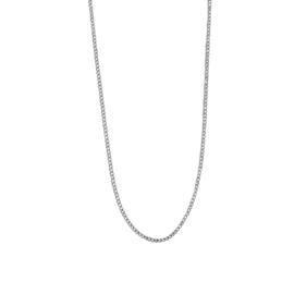 Ketting - PLAT schakel zilver | Kies je maat