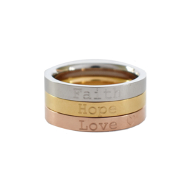 Ringen SET - met eigen tekst gravering