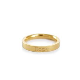 Ring GOUD - met eigen tekst gravering