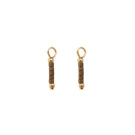 Oorbellen paar hangers | 5 KRAALTJES - taupe goud