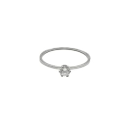 Basic ring CRYSTAL | Zilver  -  Maat 16